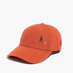NWOT Madewell Orange Embroidered Hat in El Rancho